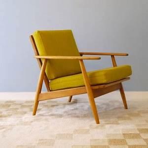 Fauteuil Bureau Scandinave : fauteuil design vintage danois jaune la maison retro ~ Teatrodelosmanantiales.com Idées de Décoration