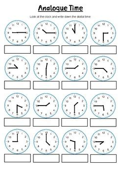 quarter   oclock year  time worksheet