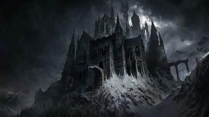 Fantasy Dark Castle Evil Wallpapers Background Resolution