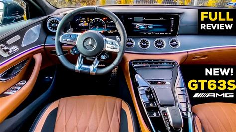 The top gear car review: 2020 MERCEDES AMG GT 4 Door Coupe NEW GT63 S FULL REVIEW Interior Saddle Brown - YouTube