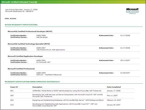 Microsoft Certifications In Resume by Pavel Růžička Ux Software Engineer Resume Cv
