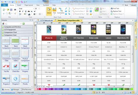 Gantt Chart Excel Templates Simple Comparison Chart Maker Make Great Looking Comparison Chart