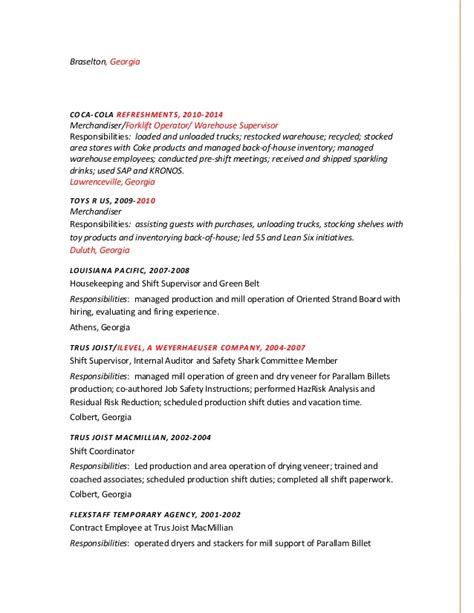 kronos resume management resume 4 sle financial