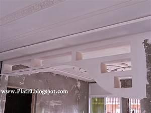 Plafond Platre Moderne Pour Salon. maison villa plafond en pl tre ...