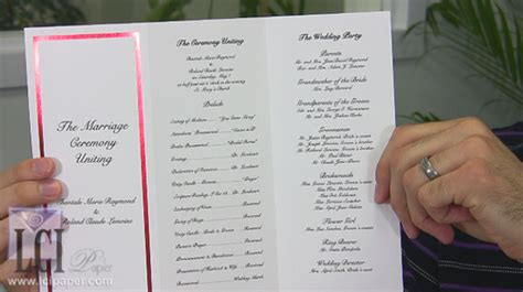 foil border wedding programs printable lci paper