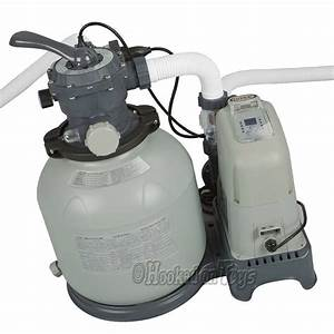 Intex Krystal Clear Sand Filter Pump  U0026 Saltwater System 24