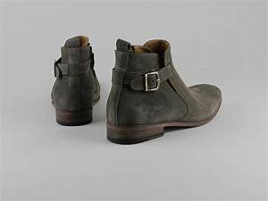 Chaussures Atelier Voisin / OBE / Boots Gris Velours