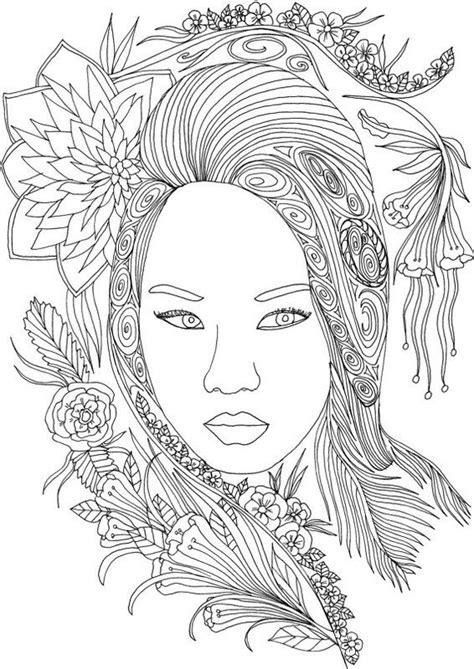 kolorowanki twarze dla doroslych  druku  coloring