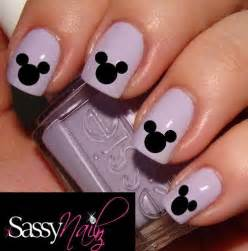 Mickey mouse nail art disney head decal water