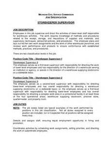 Resume Supervisor Description by Resume Cover Letter Sle Canada Resume Cover Letter Tips