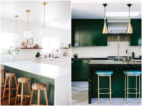 cuisine verte et blanche cuisine verte mur meubles électroménager déco