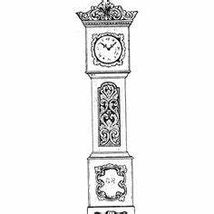 grandfather clock drawing - Google Search | Fait au Hasard ...