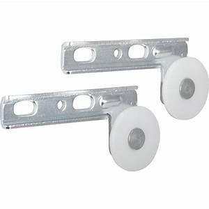 Roulette Pour Porte Coulissante : kit de montage acier et plastique pour portes coulissantes ~ Dailycaller-alerts.com Idées de Décoration