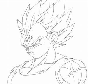 Majin Vegeta Lineart by esft by esft on DeviantArt