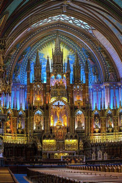 interior  notre dame basilica montreal quebec canada