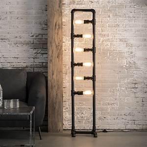 Möbel Im Industriedesign : industrie lampe rohr stehleuchte schwarz im industriedesign licht beleuchtung in 2019 ~ Orissabook.com Haus und Dekorationen