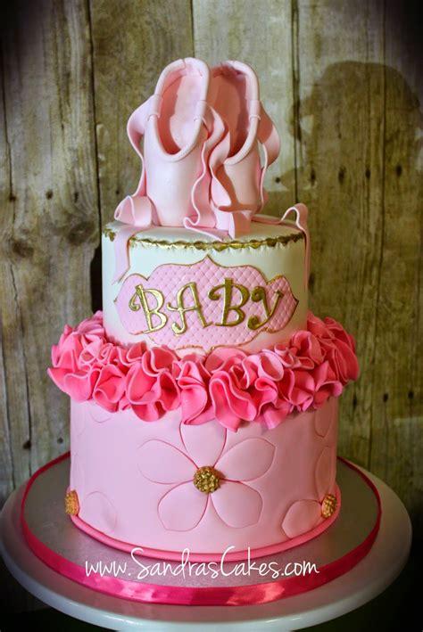 Baby Shower Ballerina Theme - ballerina themed baby shower cake