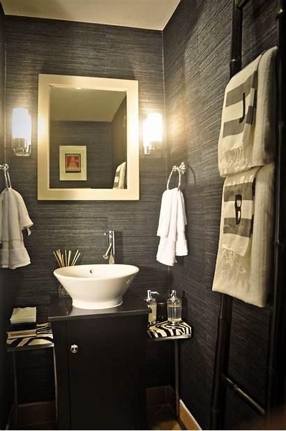 Powder Very Budget Grasscloth Bathroom Rooms Decorating