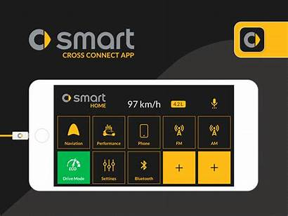 Smart App Cross Connect Redesign Dribbble Interface