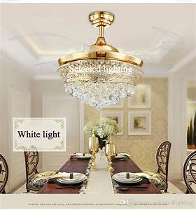 2019 Ceiling Fan Chandelier Lights Modern Crystal Ceiling