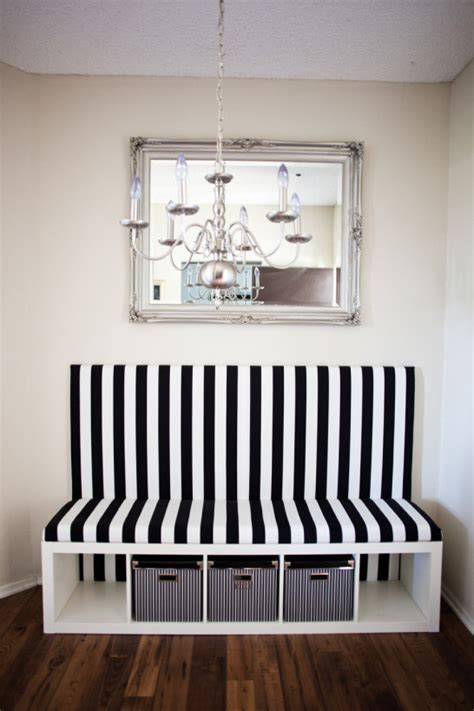 ikea hack expedit turned banquette     seat