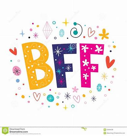 Bff Friends Forever Clipart Decorative Clip Lettering