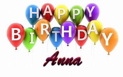 Birthday Happy Anna Wishes Postcard Purple Air