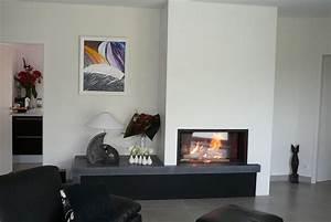 Cheminée Contemporaine Foyer Fermé : cheminee moderne foyer ferme ~ Melissatoandfro.com Idées de Décoration