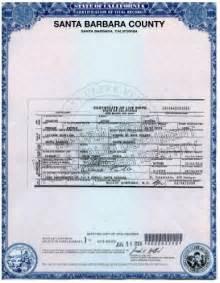 Blank Birth Certificate California