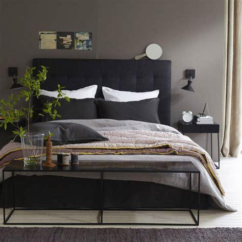 deco chambre lit noir decoration chambre tete de lit 4