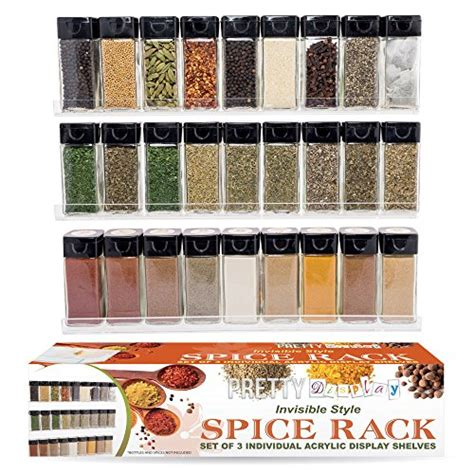 Floating Spice Rack by Quot Invisible Quot Acrylic Spice Rack Suits Every Kitchen Style