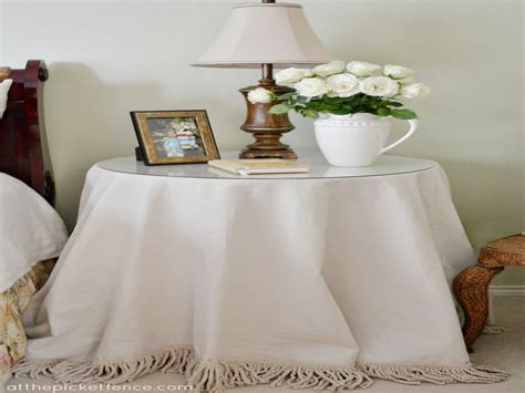 glass side tables  bedroom grass skirt tablecloth