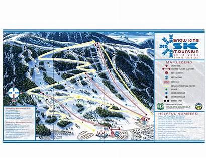 Trail Snow King Map Ski Resort Wyoming