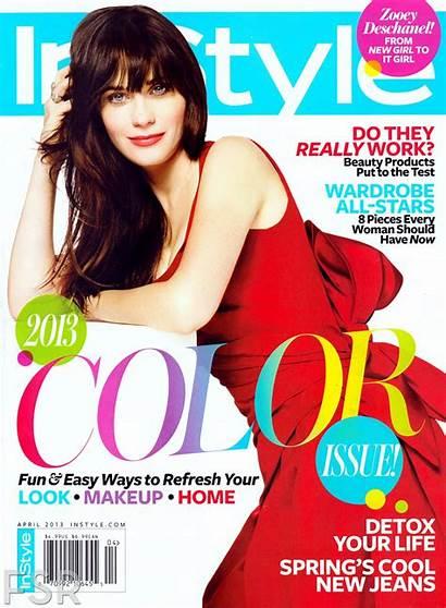 Magazine Deschanel Zooey Instyle April Awkward Hannah