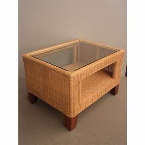 Table Basse Rotin : table basse en rotin rectangulaire naturel tressage ~ Teatrodelosmanantiales.com Idées de Décoration