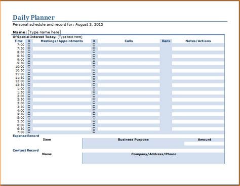 daily planner template word teknoswitch