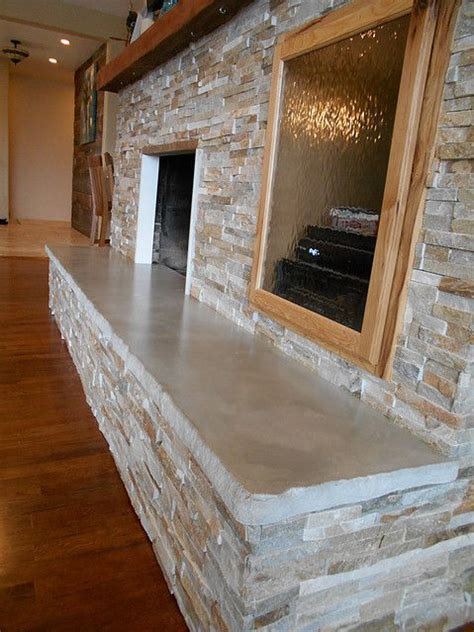 concrete slab hearth fireplace remodel fireplace
