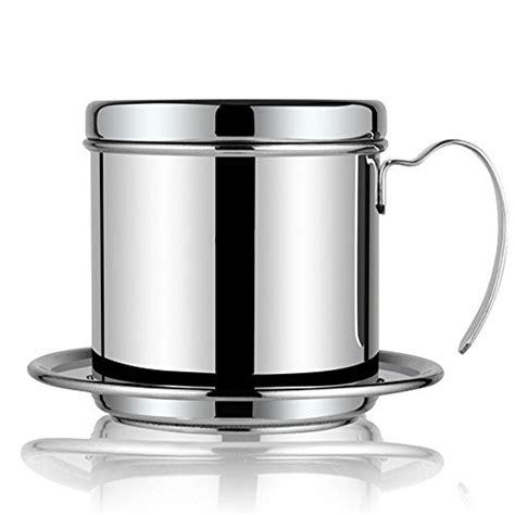 Coffee Maker Pot, Stainless Steel Vietnamese Coffee Drip Filter Maker Single Cup Coffee Drip