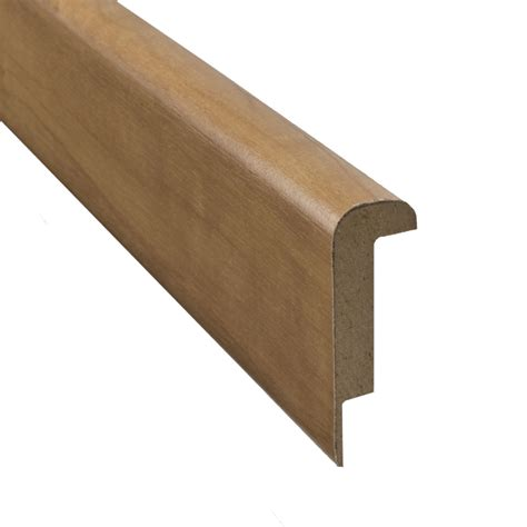 pergo stair nose shop pergo 2 37 in x 78 74 in hickory stair nose floor moulding at lowes com
