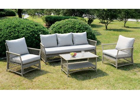 jacquelyn outdoor patio sofa chair coffee table light grey