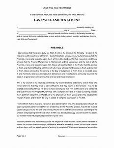 simple last will and testament sample free printable With last will and testament template ontario