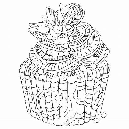 Coloring Cupcakes Cupcake Colorare Cakes Cup Disegni