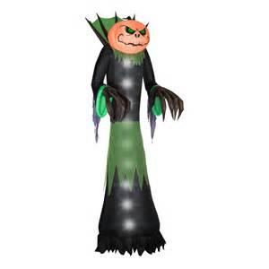 Halloween Blow Up Decorations by Shop Gemmy Pumpkin Head Reaper 14 Ft Lighted Halloween