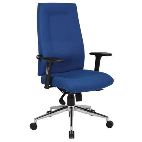 24 hour high back posture chair black or blue free uk