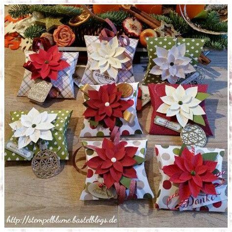 pillow box basteln stin up pillow box stanze festliche bl 252 te und stempelset weihnachtswunder dsp fr 246 hliche