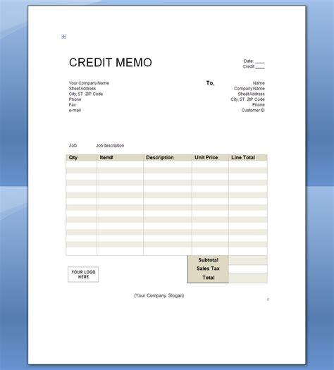 credit memo template credit memo sle search results calendar 2015