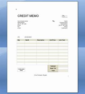 credit memo template With credit invoice template