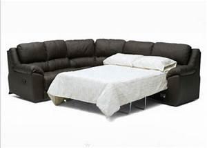 Black leather sleeper sofa sectional s3net sectional for Sectional sofa sleepers on sale