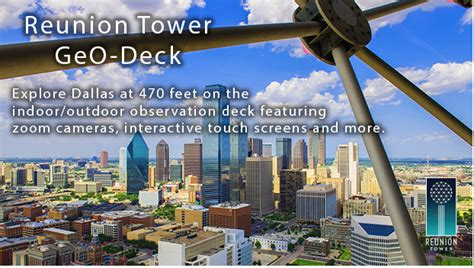 Observation Deck Reunion Tower by 3 Off General Admission Reunion Tower Geo Deck My