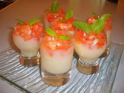 cuisine de a à z verrines verrines à l 39 asperge blanche tartare de tomates verrines